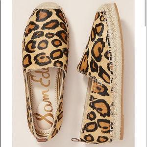 Sam Edelman Khloe Leopard Espadrille Flats 9 9.5
